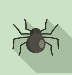 female mouse spider icon flat style vector image