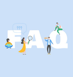 frequently asked questions concept question vector image