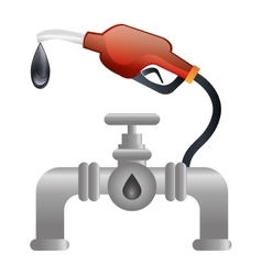 fuel station service icon vector image