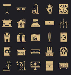 generator icons set simple style vector image