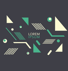Geometric pattern can be used for brochures vector