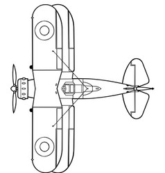 Gloster gladiator top vector