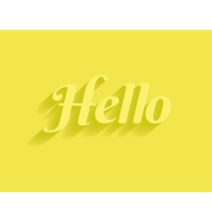 Hello message vector image
