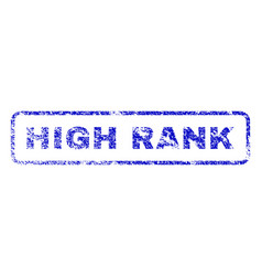 High rank rubber stamp vector