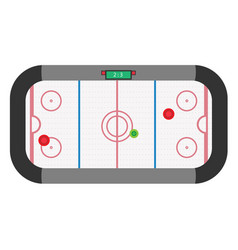 hockey air table game isolated entertainment vector image