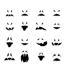 Horror smiles vector image