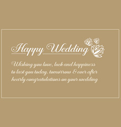 Invitation of wedding style design vector
