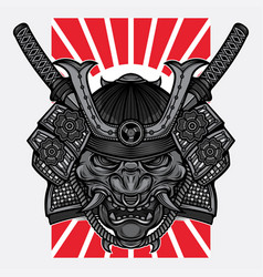 Japanese hannya mask tattoo vector