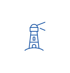 lighthousenautical building line icon concept vector image