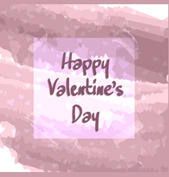 lilac greeting card of happy valentines day vector image