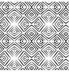 Linocut rhombus tile seamless pattern vector