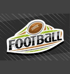 logo for american football vector image