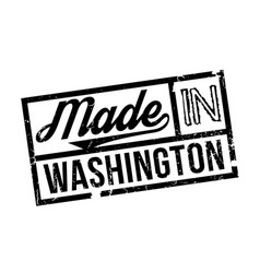 Made in washington rubber stamp vector