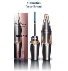 mascara realistic packaging mock up vector image