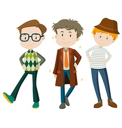 Men in different poses vector image