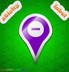 Minus Map pointer GPS location icon sign Symbol vector image