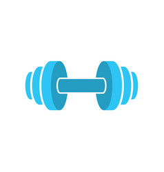 Muscle lifting icon - fitness barbell - gym icon vector