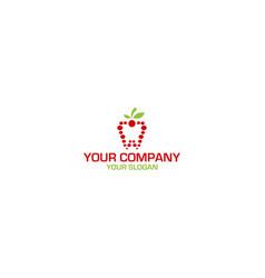 nature fruit dental logo design vector image