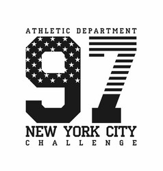 New york city athletic department american flag vector