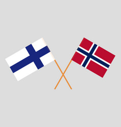 Norway and finland flags vector