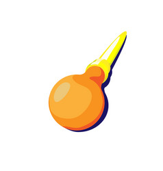 Orange enema flat medical instruments little vector