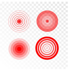 Pain red circle vector