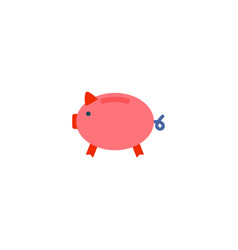piggy bank icon flat element vector image