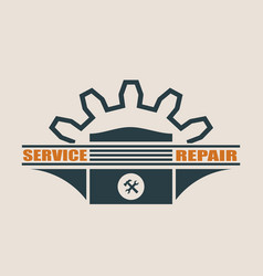 piston icon design element for branding vector image