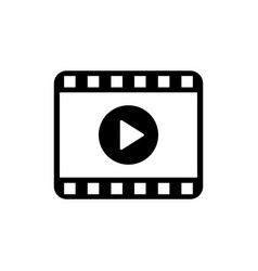 play video icon movie icon video player symbol vector image