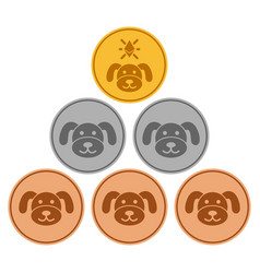 Pup coins flat icon vector