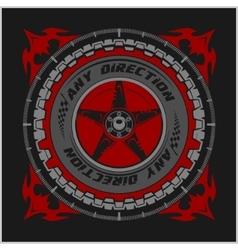 Racing championship emblem vector
