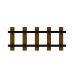railway icon flat style vector image