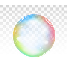 Rainbow soap bubble on a transparent background vector