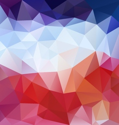 red pink blue abstract polygon triangular pattern vector image
