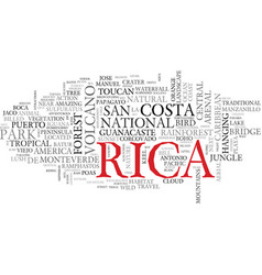 rica word cloud concept vector image