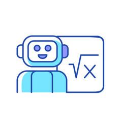 Robotics in education rgb color icon vector