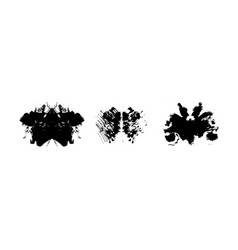 Rorschach inkblot test symmetrical vector