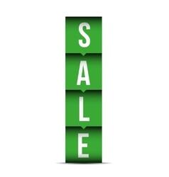 Sale label lettering vector image