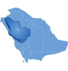 Saudi Arabia the region Al Madinah vector