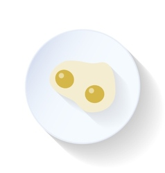 Scrambled eggs flat icon vector
