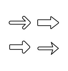 Set line icons arrow vector
