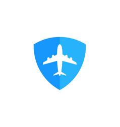 shield travel logo icon design vector image