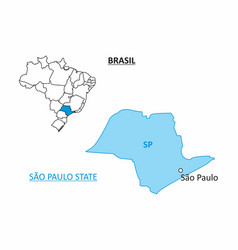 state of sao paulo map vector image