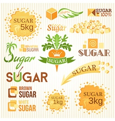 Sugar decoration set vector