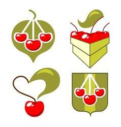 symbols cherry vector image