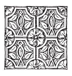 Syrian carving christian ornament from tourmanin vector