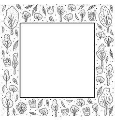 trees and bushes set for social media vector image