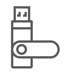 usb flash flash card line icon electronic vector image