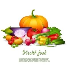 Vegetable Health Food Design Concept vector