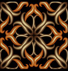 vintage 3d damask floral background abstract vector image